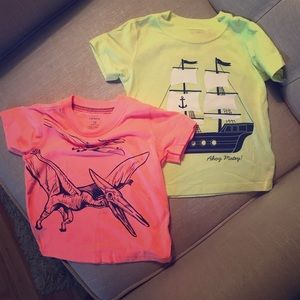 Set of two carters 18 month old tee-shirts
